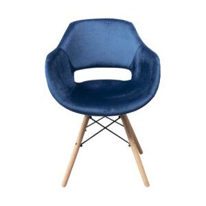 Silla tapizada Rea Azul Ebani Colombia tienda online de decoración y mobiliario Nihao
