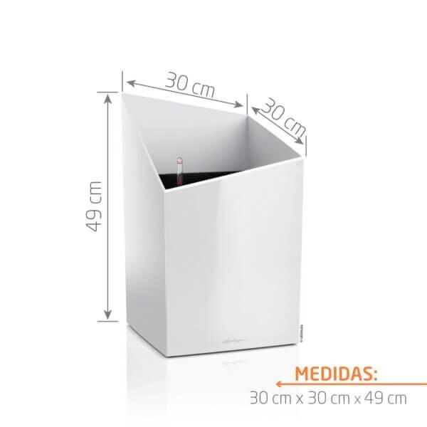 Matera de Piso Autorregante Cursivo 49 cm Blanco
