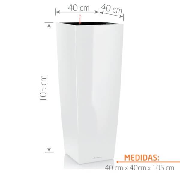 Matera de Piso Autorregante Cúbico 105 cm Blanco