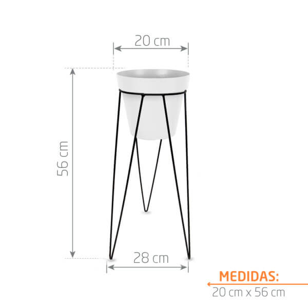 Combo Matera Blanca + Base Redonda 20 x 50 cm