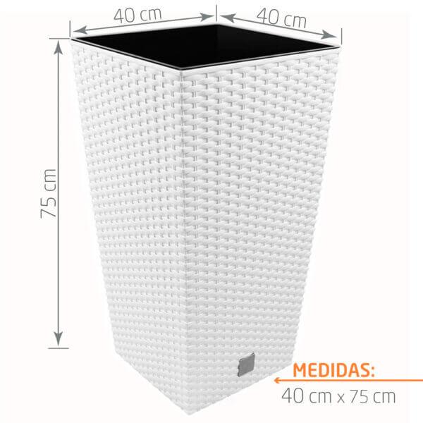 Matera de Piso en Rattan Urbi 75 cm Blanco