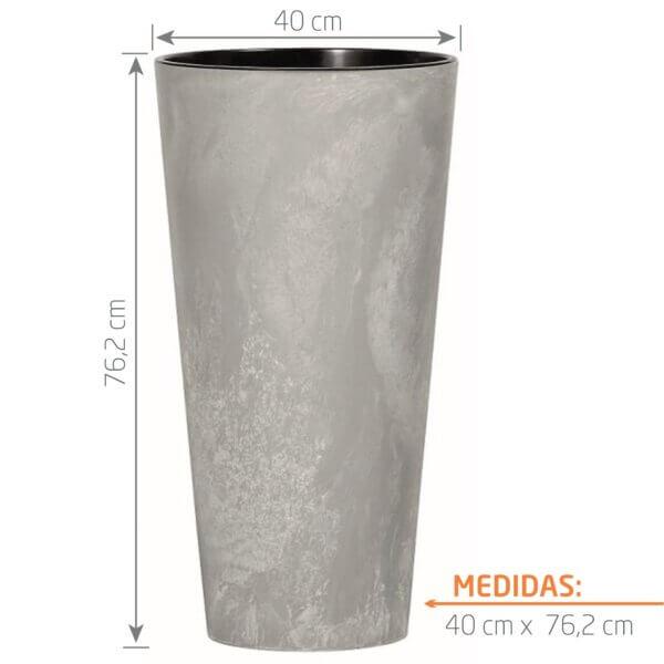 Matera de Piso Tubus Beton 76 cm Concreto