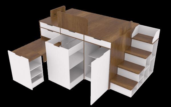 Cama Rio Ebani Colombia tienda online de decoración y mobiliario Maderkit
