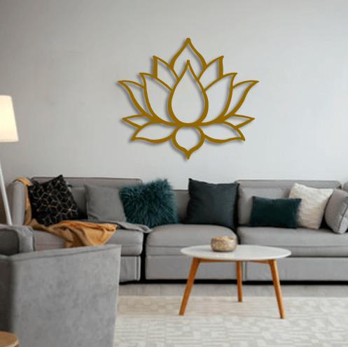 Aplique de pared Flor de Loto en metal