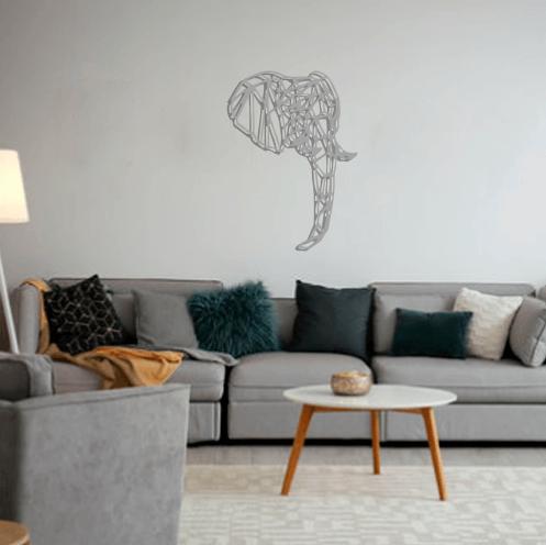 Aplique de pared elefante Haina en metal