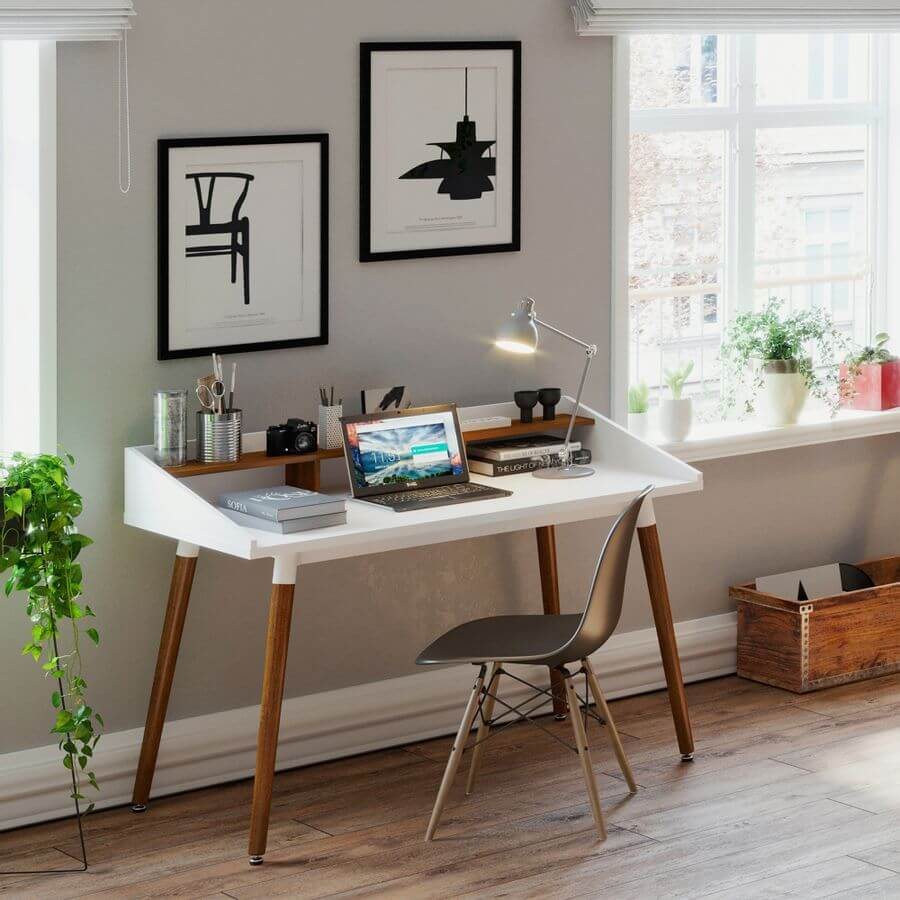 Escritorio para pc o Estudio minimalista Nordico