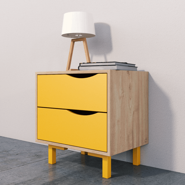 Nochero o Mesa de noche yellow