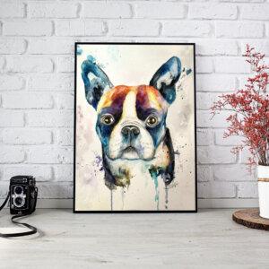 ilustración bulldog