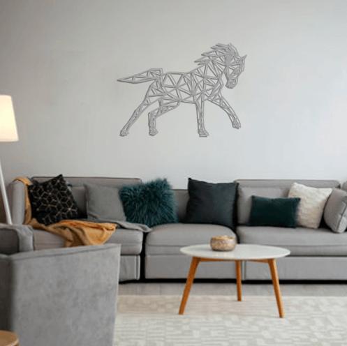 Aplique de pared caballo Pachapan en metal