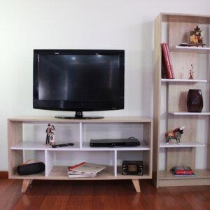 Centro de entretenimiento o mesa para TV Almeria Siena Blanco hasta 60″